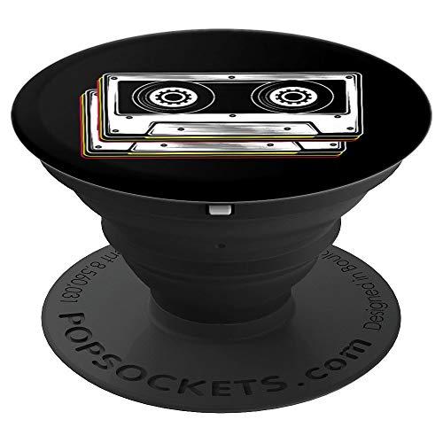 Disfraz de cinta de cassette 80s 90s Retro PopSockets Agarre y Soporte para Teléfonos y Tabletas