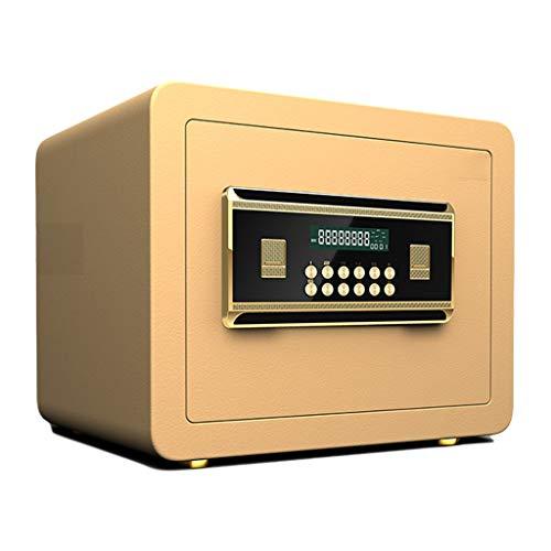 Casseforti Cassaforte A Chiave Digitale Fissa 35 * 25 * 25cm Installazione Fissa Della Parete allarme Incorporato Della Mobilia Safe (Color : Gold)