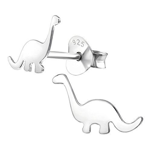 Laimons Mädchen Kids Kinder-Ohrstecker Ohrringe Kinderschmuck Dinosaurier Dino Reptil Donnerechse aus Sterling Silber 925