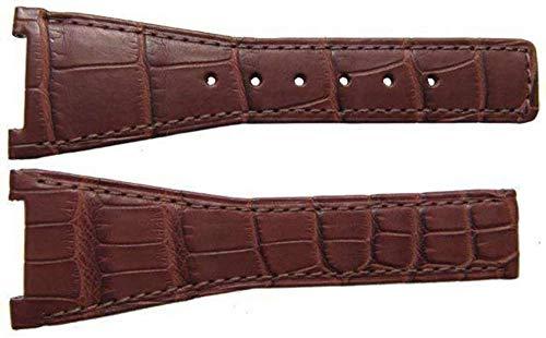 Authentisches Omega Uhrenarmband 28mm Alligator - Braun Faltschliesse