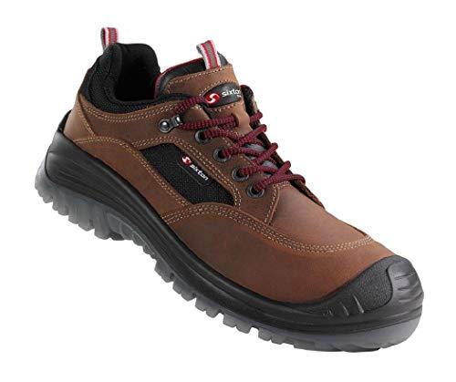 SIXTON Sicherheitsschuhe Land Nubuck Braun Arbeitsschuhe in Alle Größen, Schuhgröße:40
