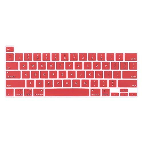 Película protectora para teclado For Macbook Pro 13 más nueva barra de 16 pulgadas táctil 2020 2019 A2251 A2289 A2141 de EE.UU. Inglés de silicona teclado cubierta clara del protector Protector de pan