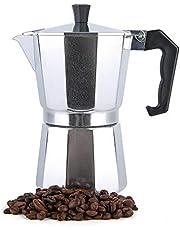 Turkish Coffee Maker Italian Espresso Moka Coffee Pot Octagonal Perfect Gift for Coffee Lover Aluminum 6 Cups 300ml