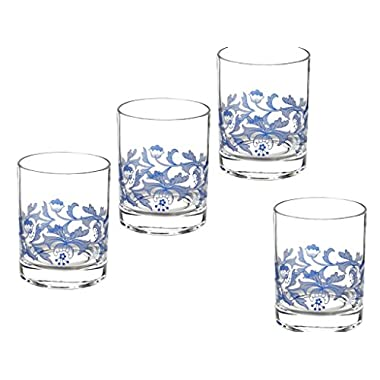 Spode Blue Italian Double Old Fashioned Glasses - Set of 4