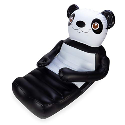 SwimWays Huggables Panda Bear Oversized Float - Inflatable Lounge with Cupholder for Pool or Lake