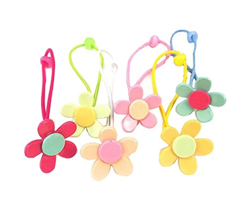 12 pièces Lovely Rubber Bands Hair Ropes Cravates de cheveux pour les enfants, Tournesol