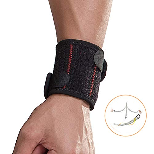 Handgelenkbandage Mit Klettverschluss, Sport Handgelenkschoner für Fitness, Krafttraining, Bodybuilding, Handgelenkstütze für Frauen und Männer