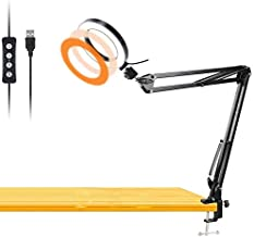 Workbench Light, Desk Ring Light with Swivel Clamp Arm,6'' USB Ring Light for Reading,Craft,Makeup,YouTube,Live Streaming,Study,Architect Drafting - Acetaken