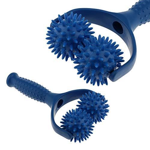 Jzhen Massage Roller mit Griff, Massageball Roller mit Triggerpunkt,Hand gehalten Muskel Entspannen Massagegerät