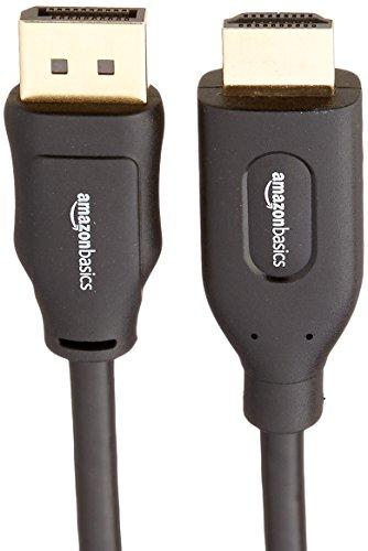 AmazonBasics DisplayPort to HDMI Display Cable - 6 Feet