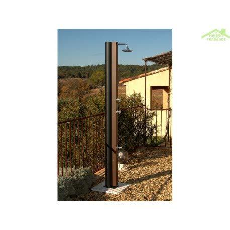 Crm-Ducha solar, diseño rústico con accesorios, 30 L con grifo