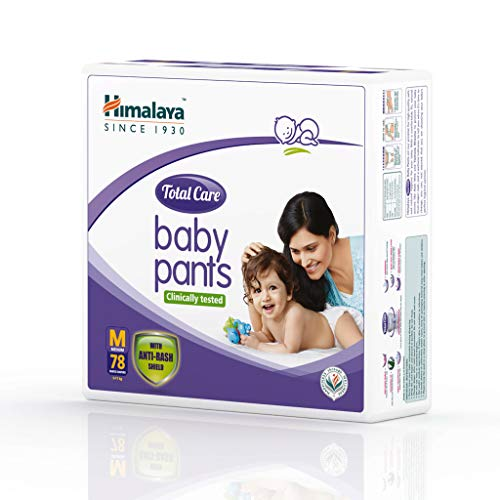 Himalaya Total Care Baby Pants Diapers, Medium (5 - 11 kg), 78 Count