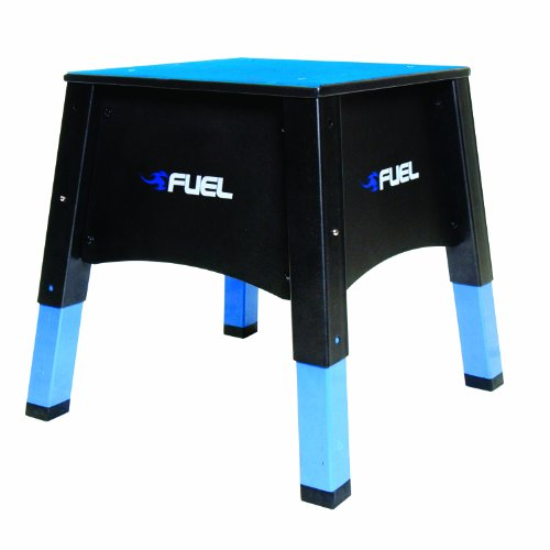 Fuel Pureformance Adjustable Plyometrics Box, blue, black