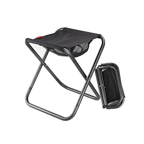 Chaises pliantes Petits tabourets se pliants XL résistants portatifs avec la poche appropriés à la randonnée de randonnée Pêche au camping Barbecues Mini tabourets pliables Usage domestique à l'extéri