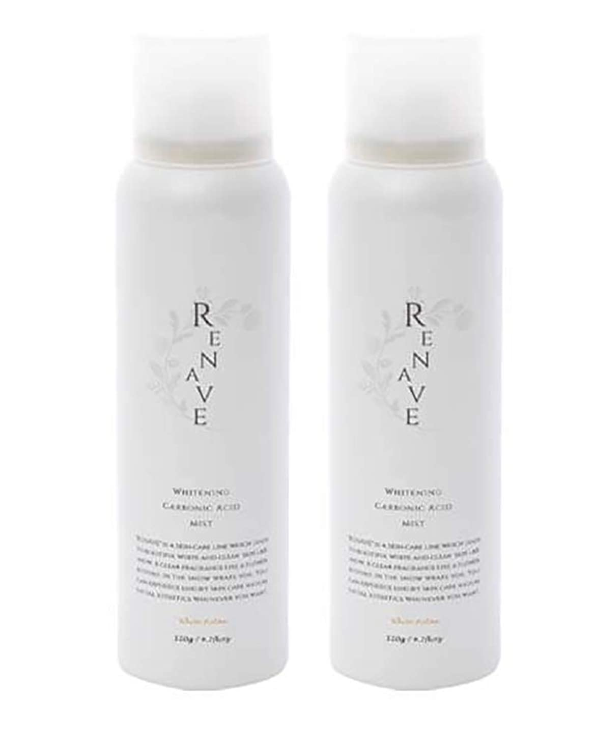 のぞき見離れた非難RENAVE(リネーヴェ) 高濃度炭酸ミスト 薬用美白化粧水 120ml 2本セット