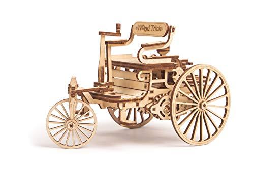 Wood Trick - Eerste auto - 3D houten puzzel - Houten Mechanische Transmissie Model 3D - Lijmvrije montage - 152 stukken