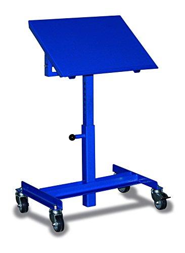 Materialständer einseitig neigbar RAL5010 Enzianblau Materialwagen