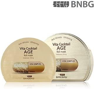 New BANOBAGI(BNBG) Vita Cocktail Age Foil Mask Sheet 30ml 10pcs Set for Intensive Lifting