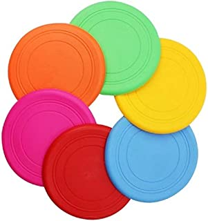 yimeihao Dog Toy Frisbee - Children's Frisbee -Dog Frisbee - Training Silicone Frisbee - One Pack of Multi-Color 6 Frisbee