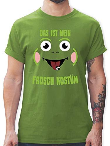 Karneval & Fasching - Das ist Mein Frosch Kostüm - XL - Hellgrün - L190 - Tshirt Herren und Männer T-Shirts