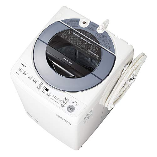 シャープ 洗濯機 穴なし槽 ES-GV8E-S インバーター搭載 シルバー系 8kg