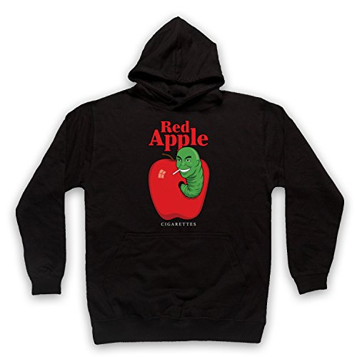 The Guns Of Brixton Red Apple Cigarettes Tarantino Fake Brand Sweat a Capuche des Adultes, Noir, Medium
