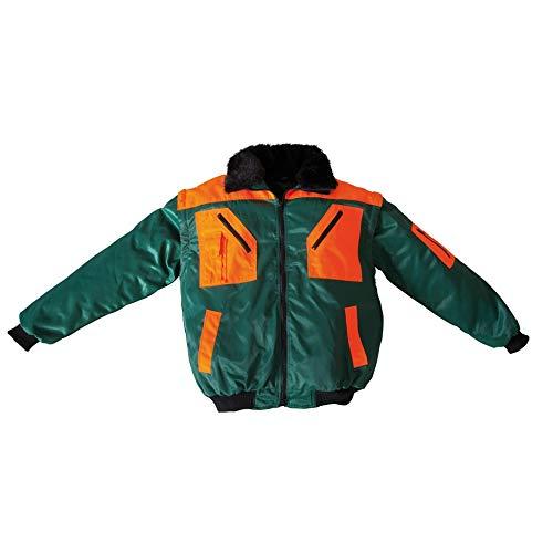 Forstjacke Pilotenjacke Pilotjacke auch als Weste Arbeitsjacke grün gefüttert Gr. XL
