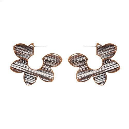 Ruby569y Pendientes colgantes para mujer y niña, diseño de pétalo, acrílico, para mujer, accesorios de joyería
