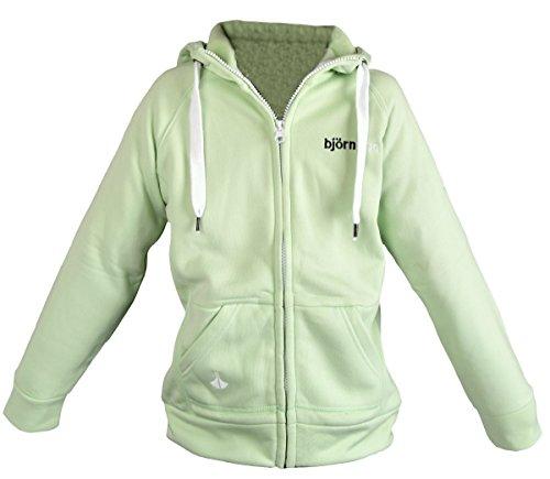 IWEA by björnson Kinder Sweatshirt Jacke Kapuzenjacke Hoodie, Lime, 128