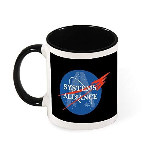 Mass Effect Keramik-Kaffeetasse mit NASA-Logo, Geschenk für Frauen, Mädchen, Ehefrau, Mutter, Oma, 325 ml
