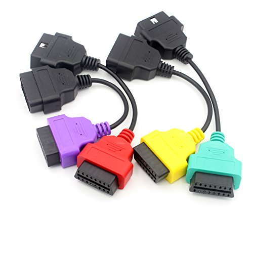 LoongGate OBD-II Scan Adapter Vier Farben Sets, OBD2 Stecker Diagnose Kabel für Multiecuscan Fiatecu