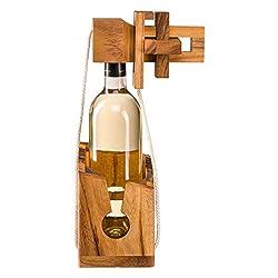 Flaschenpuzzle aus edlem Holz, Flaschentresor, Flaschensafe, Geschenkverpackung für gängige Weinflaschen, Flaschen Tresor, Flaschen Safe, Flaschen Puzzle, Denkspiel, Geduldsspiel, Flaschenrätsel, Knobelspiel für Weinflasche von Zederello