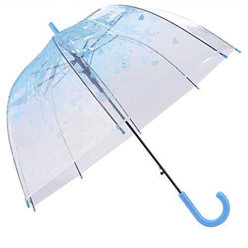JUSTDOLIFE heldere bloem Bubble Dome vorm lange regen paraplu roze Blauw