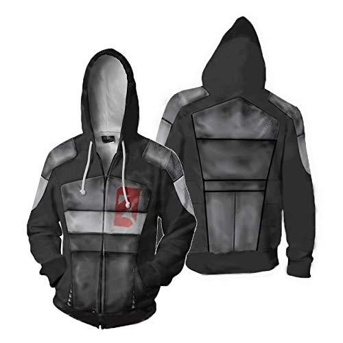 zhacaoji Men's Borderlands 3 2 Hyperion Hoodies Jacket Zipper Coat 3D Printing Long Sleeve Cosplay Costume Merchandise Merch t shirs L
