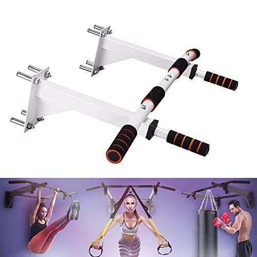 Chin Up Bar Wall Mounted Pull Up Bar Multi Grip Multifunctional Exercise Fitness Equipment Steel Maximum Weight Capacity 300kgwhite