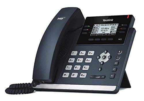 Yealink SIP-T41S VoIP Phone, Large HD LCD Screen, Supports 6 SIP Accounts (Renewed)