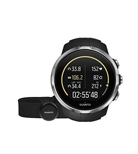 Suunto - Spartan Sport (HR) - SS022648000 - Reloj GPS para Atletas Multideporte + Cinturón Frecuencia Cardiaca - Pantalla táctil de Color - Negro - Talla única