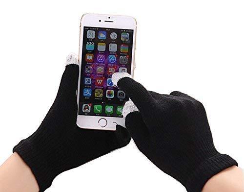 ONX3 Schwarzer Winter Touchscreen Unisex One Size Handschuhe mit Rutschfester Inteligent Touch Technologie Kompatibel mit Lenovo Vibe S1 Lite