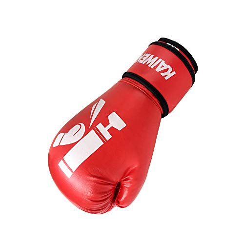 KAIWENDE Kids Boxing Gloves,Children Or Youth Punching Bag,Muay Thai,Kickboxing Training Gloves (Red, 4 oz)
