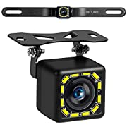 #LightningDeal Car Backup Camera, Rear View Camera Ultra HD 12 LED Night Vision,Waterproof Reverse Camera 140° Wide View Angel with Multiple Mount Brackets for Universal Cars,SUV,Trucks,RV and More