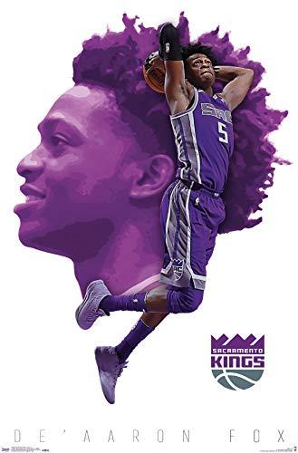 Trends International NBA Sacramento Kings - De'Aaron Fox Wall Poster, 22.375' x 34', Unframed Version
