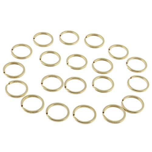 2ßx Messing Schlüssel Ringe Split Metallringe Gold Schlüsselring in