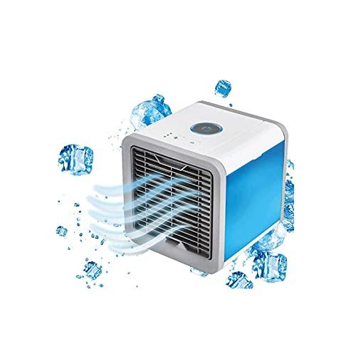 LNLYF Condizionatore d'Aria Portatile, refrigeratori evaporativi, depuratore con 7 Colori GUIDATO Luce, 3 velocità USB Ventola di Raffreddamento per Ufficio Ufficio Dormitorio casa Viaggio