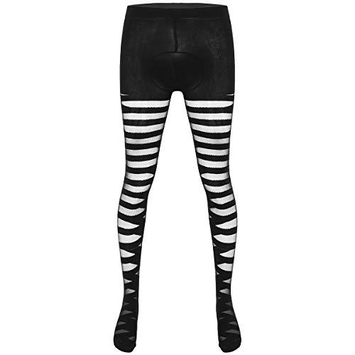 Alvivi Herren Strumpfhose Transparent Mesh Ouvert-Hose Leggings Stockings Pantyhose Dessous Unterwäsche Schwarz Einheitsgröße