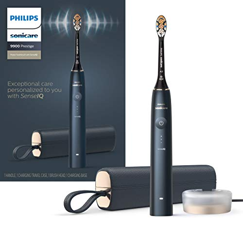 Philips Sonicare 9900 Prestige Rechargeable Electric Power Toothbrush with SenseIQ, Midnight, HX9990/12