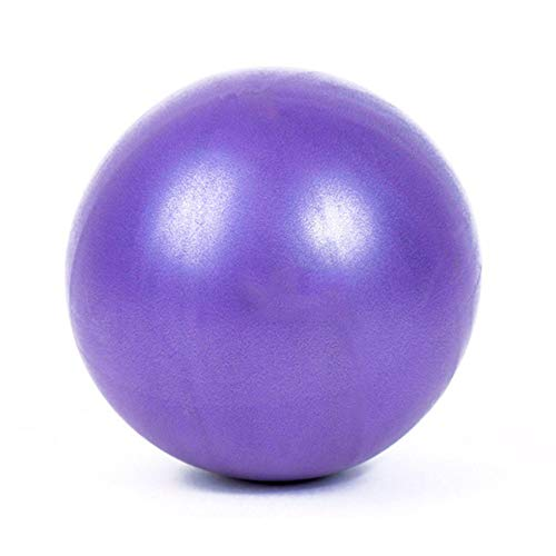 shyymaoyi Yoga-Ball, 25 cm, aufblasbarer Fitness-/Pilates-Ball, Balance-Übung, Fitness, Training, Massage, einfarbig, Purple