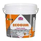 Colorificio Carson Ecogum Guaina Liquida Impermeabilizzante Pedonabile Calpestabile Protettiva Idrorepellente Resistente Ai Raggi UV Per Manti Bituminosi Tetti Terrazze (14 LT, Grigio)