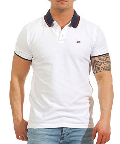 Levi's Logo Camiseta, Azul (Breaker Polo/w Contrast Tipping White Body/Dress Blues +...