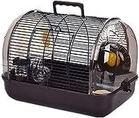 ハムスターケージ ハムスターハウス 通気 組立式 小動物ケージ 飼育ケージ 内装 幅広い セット付き 持ち手付き 小動物 大型 ケージ 通気 組立式持ち手付き,ドワーフハムスター、ゴールデンハムスター、シリアハムスター、小動物に適しています (L41*27*29cm,コーヒー)