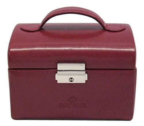 Windrose Merino kleiner Schmuckkoffer 15 cm rot